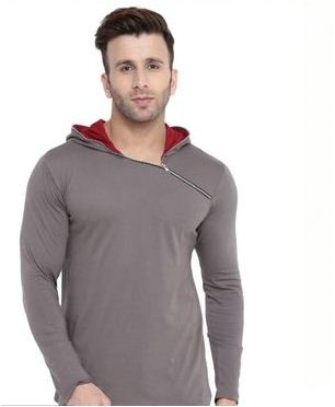 Trending Cotton Hooded T-Shirt