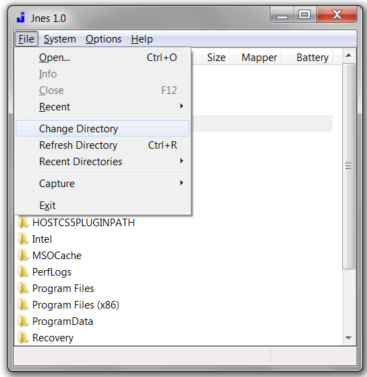 jnes screenshots change directory