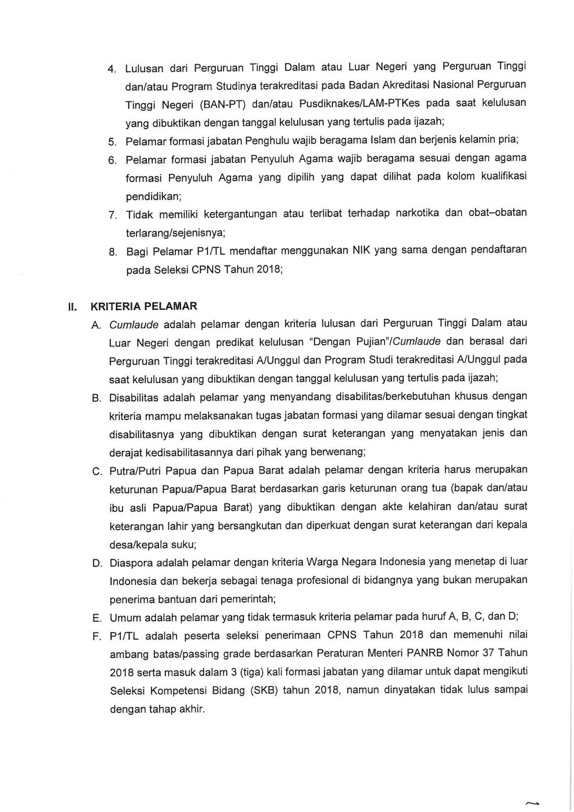 Lowongan CPNS Kementerian Agama Tahun Anggaran 2019 [5815 Formasi]