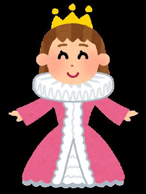 王女様・お姫様のイラスト