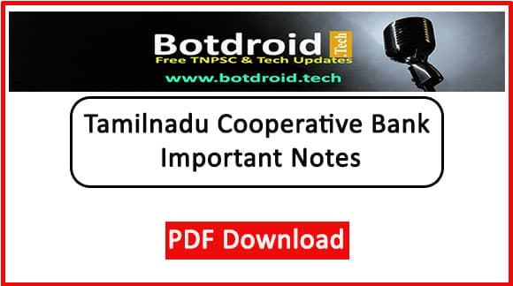 Tamilnadu Co Operative Exam Important Questions and Answers notes pdf download