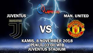 Prediksi Bola Juventus vs Manchester United 8 November 2018