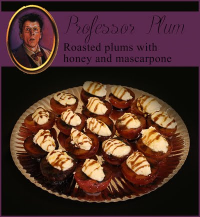 Professor Plum's Roasted plums with mascarpone, honey and balsamic vinegar