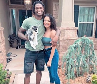 CeeDee Lamb With His Girlfriend Crymson Rose At Home