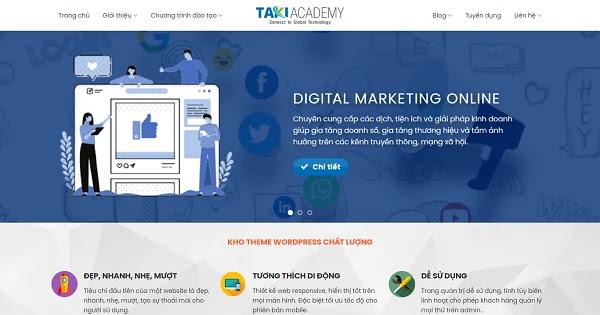Template blogspot landing dịch vụ marketing tổng hợp