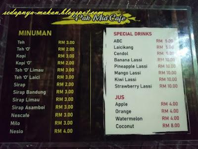 menu Pak Mid Cafe