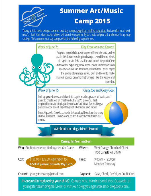 Young at Arts: Summer Camp Registration
