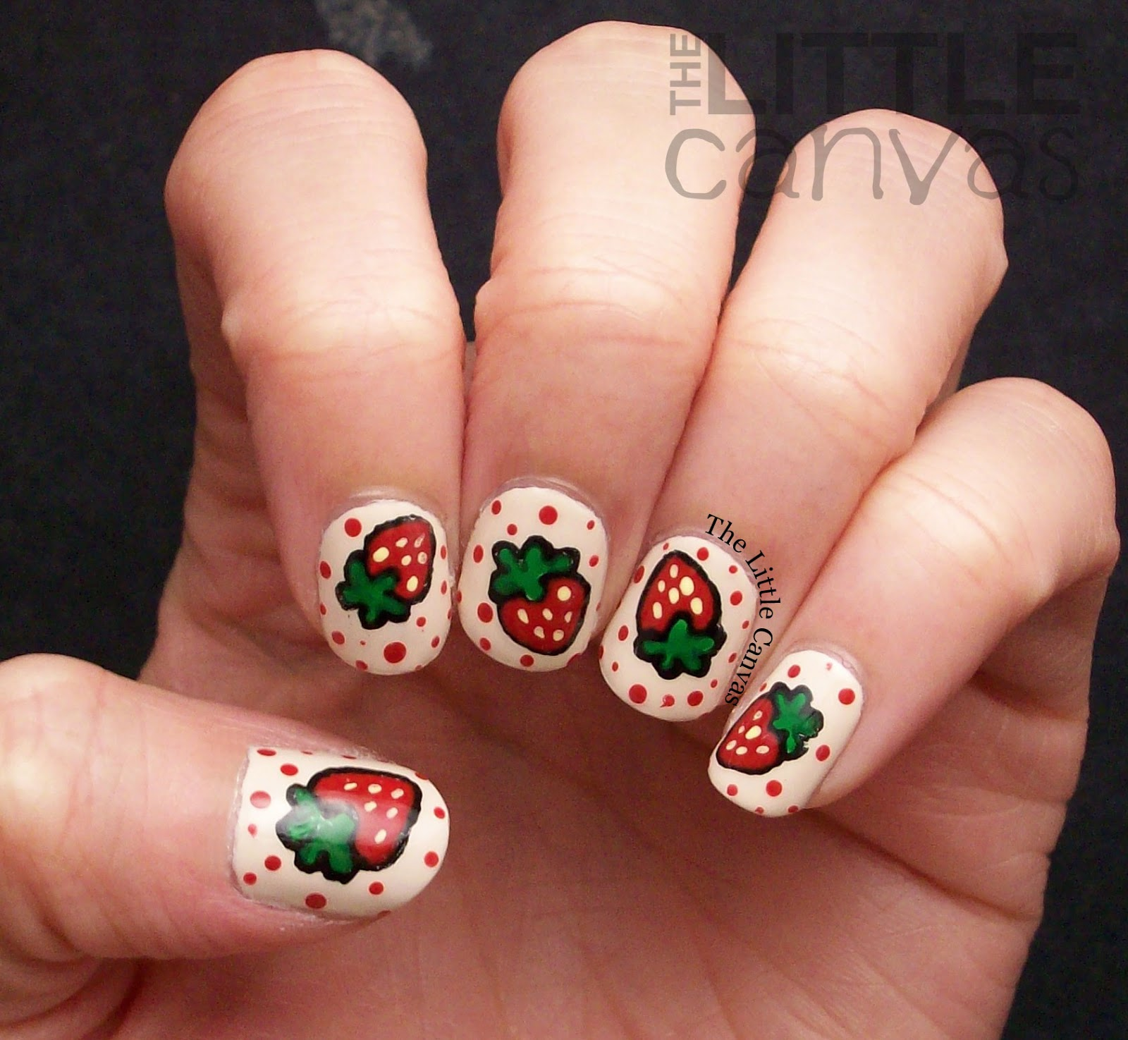 strawberry nail art inspired by simplyrins