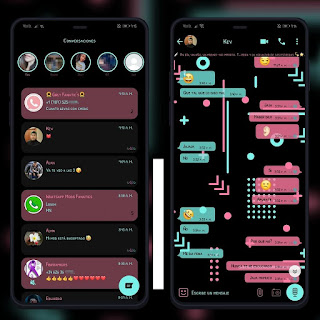 Geo Black Theme For YOWhatsApp & YX WhatsApp By Ethel
