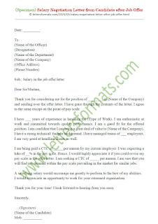 sample salary negotiation letter after job offer