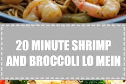 20 Minute Shrimp and Broccoli Lo Mein