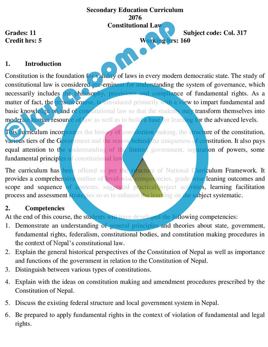 Grade-11-XI-Constitutional-Law-Curriculum-Subject-Code-Col317-2076-DOWNLOAD-in-PDF