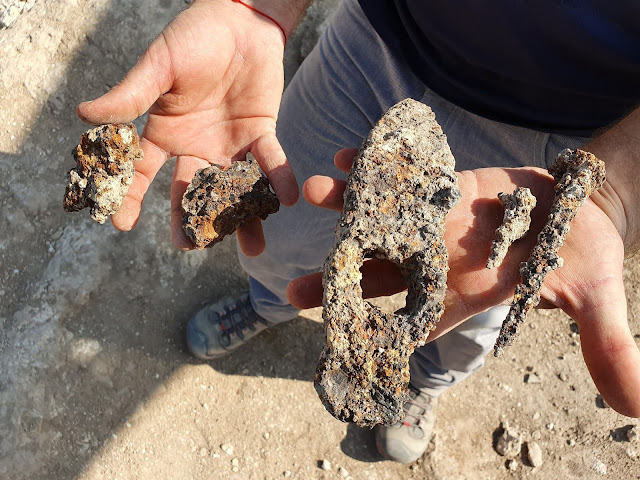 1,400-year-old Byzantine hammer and nails discovered in Israel