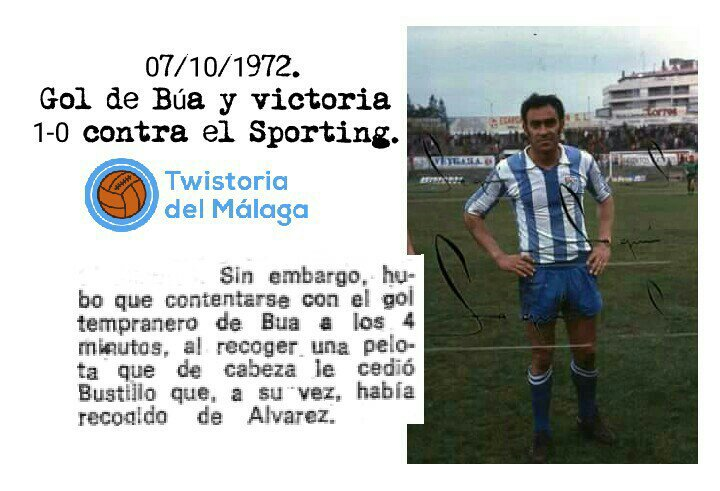 1972 Búa derrotó al Sporting.