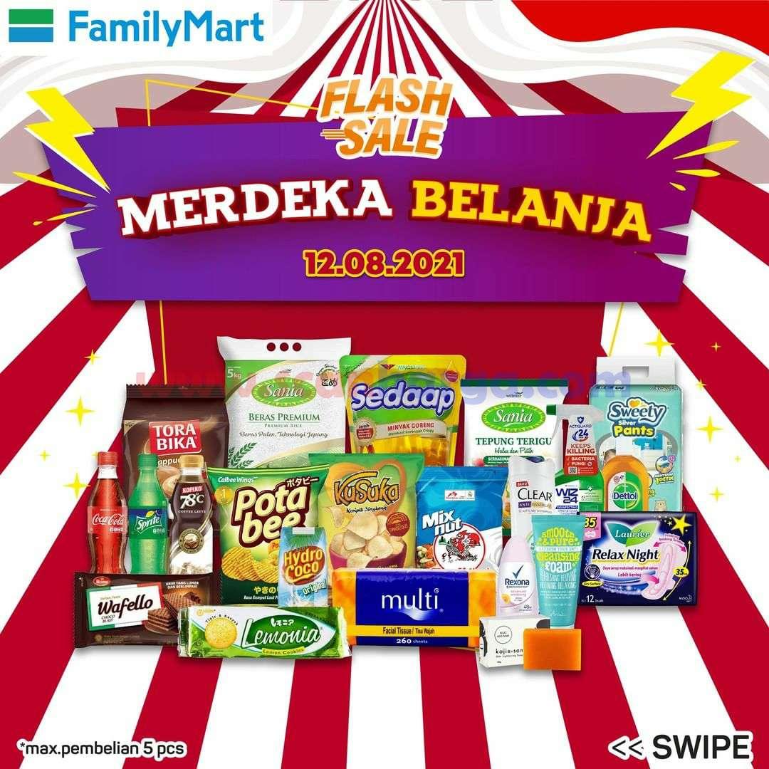Promo FAMILYMART Flash Sale Merdeka Belanja Spesial *12.08.21