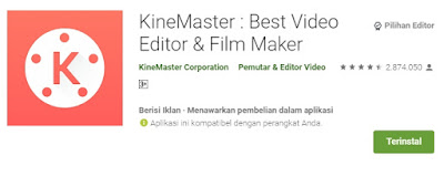 Aplikasi edit video hp android terbaik -kinemaster