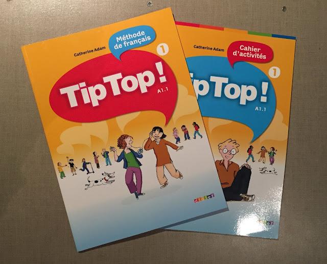 """Recenzje #190 - """"Tip top ! 1"""" - okładki podręcznika i zeszytu ćwiczeń - Francuski przy kawie"""