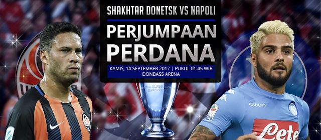 PREDIKSI BOLA: Shakhtar Donetsk vs Napoli: Perjumpaan Perdana