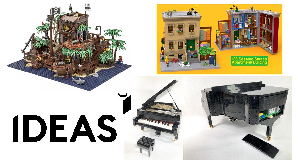 LEGOアイデア製品化デザイン決定!2019年第1回LEGOアイデア製品化検討レビュー進出が確定した9つのデザイン案:セサミストリート、アダムス・ファミリー、鳥、人体解剖模型など:どれが欲しい?