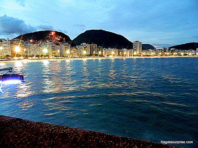 Orla de Copacabana vista do Forte de Copacabana