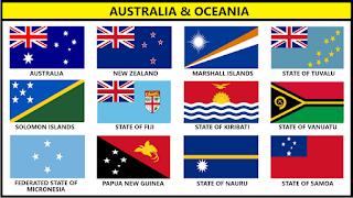 Bendera Negara Australia Dan Oceania