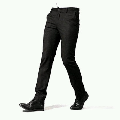 celana formal slim fit cardinal