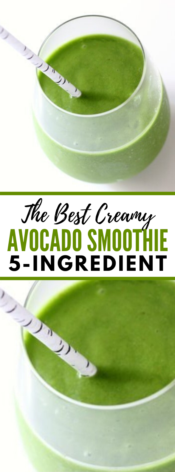 The Best Creamy Avocado Smoothie – 5 Ingredients #healthydrink #breakfast