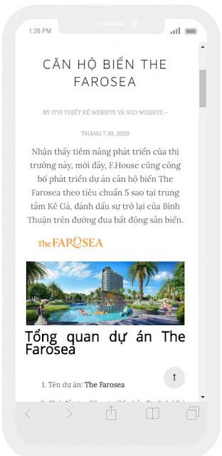 Mẫu website Căn hộ ven biển giao diện điện thoại