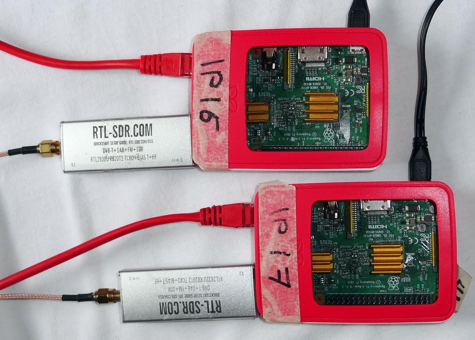 Radio for Everyone: Group ADS-B test: 19 dongles