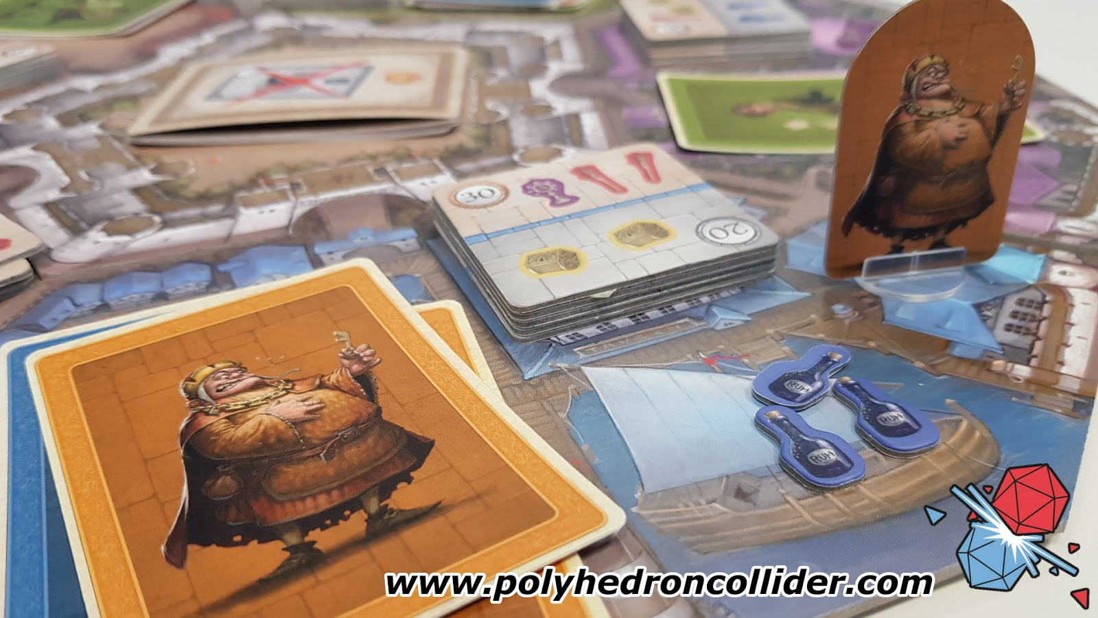 Polyhedron Collider Slyville Board Game Review - In Play Close Up