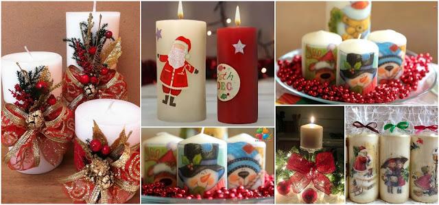 9 hermosas ideas muy f ciles para decorar velas navide as for Velas navidenas