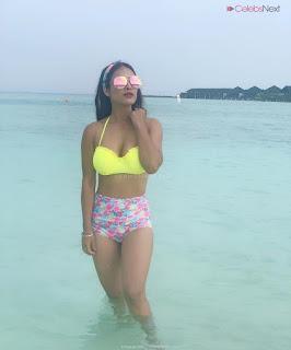 Neha Malik in Yellow Bikini Beautiful Actress Model in Spicy Yellow Bikini Pics .XYZ Exclusive 09
