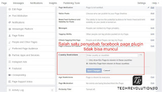 Pengaturan Facebook Country Restrictions