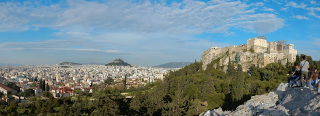 Acropolis, Lycabettus and Athens city from Filopappou Hill