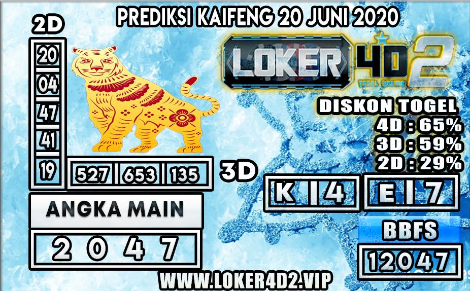 PREDIKSI TOGEL KAIFENG LOKER4D2 20 JUNI 2020