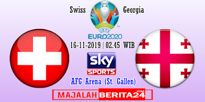 Prediksi Swiss vs Georgia — 16 November 2019