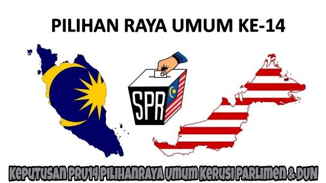 Keputusan PRU14 Pilihanraya Umum Kerusi Parlimen & DUN