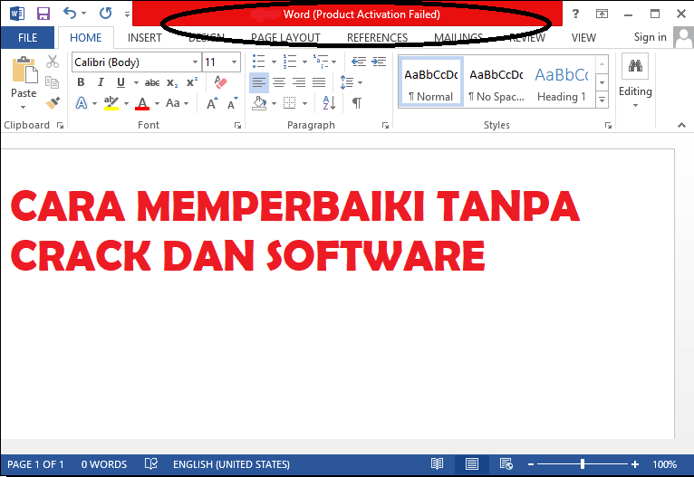product activation failed office 2016