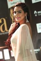 Prajna Actress in backless Cream Choli and transparent saree at IIFA Utsavam Awards 2017 0061.JPG