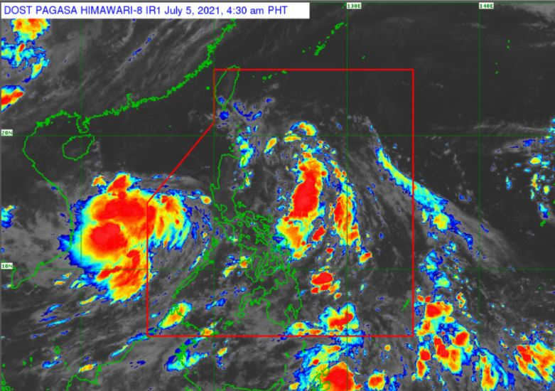 Satellite image of Tropical Depression 'Emong'