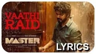 Master-Vaathi-Raid-Lyric