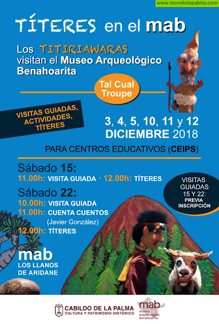 """El Museo Arqueológico acogerá funciones de """"títeres benahoaritas"""" destinadas a escolares de la isla"""