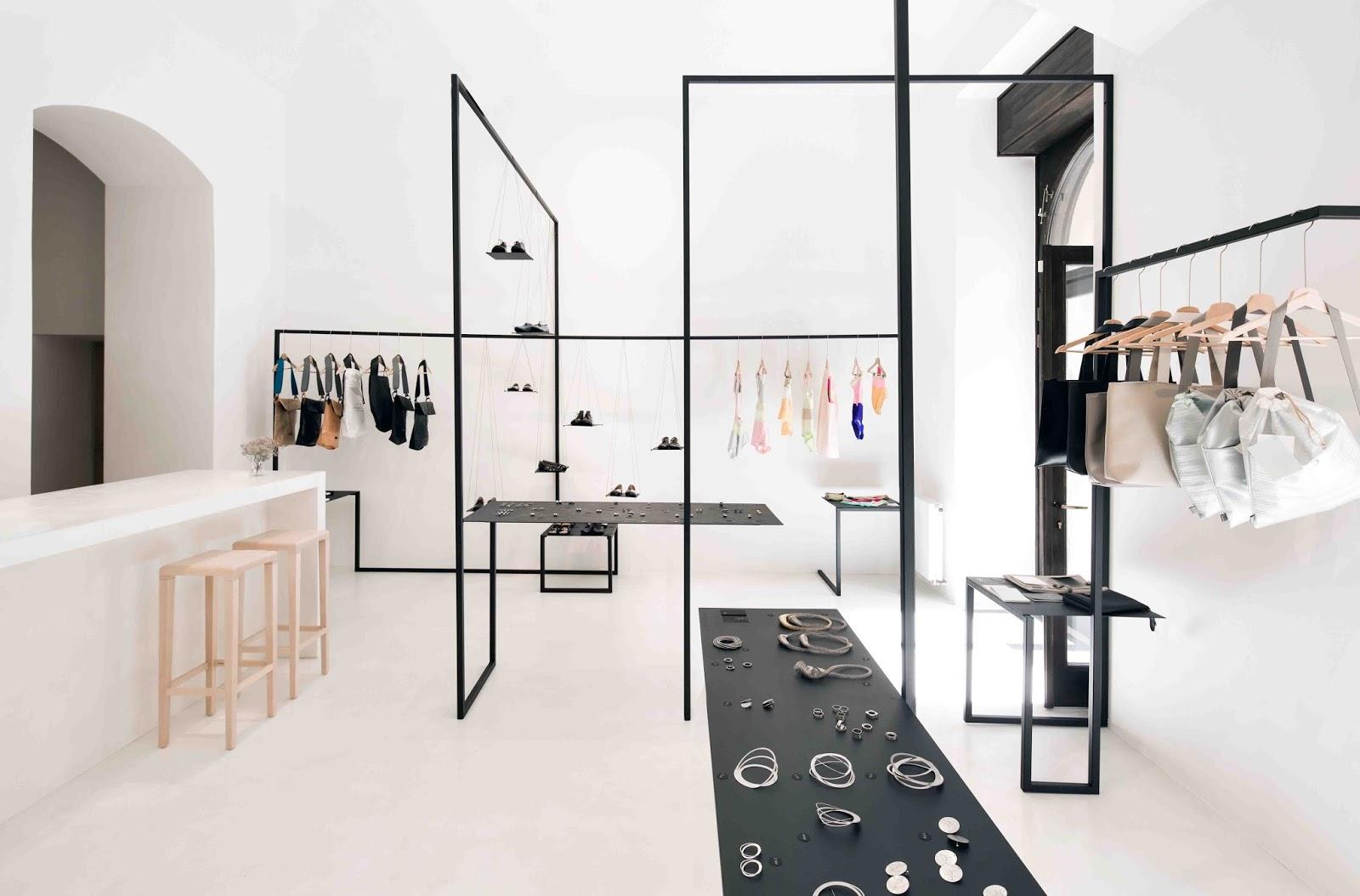 Laboratorio e negozio di moda showroom a praga by zuzana for Negozi di design