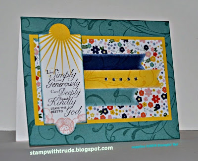 stampwithtrude.blogspot.com Stampin' Up! greeting card by Trude Thoman Trust God stamp set