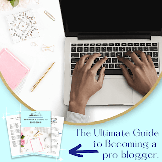 a image created to promote my free guide about becoming a blogger.