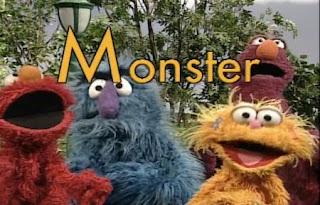 Elmo, Telly, Herry, Zoe sing M is for Monster. Sesame Street All Star Alphabet