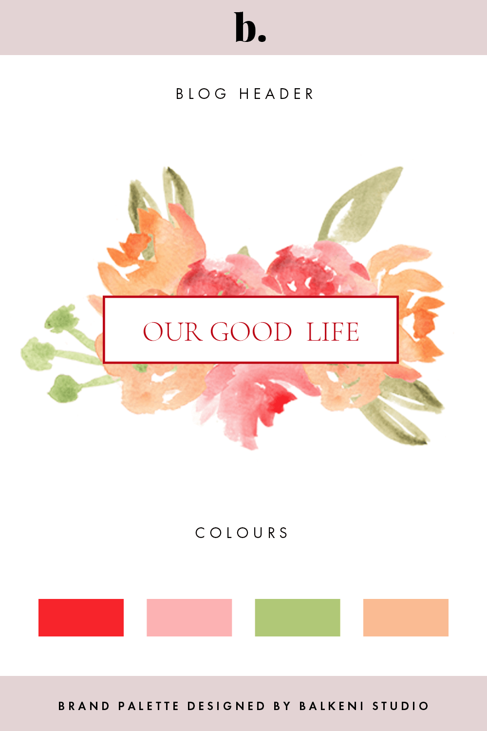 colour palette + logo