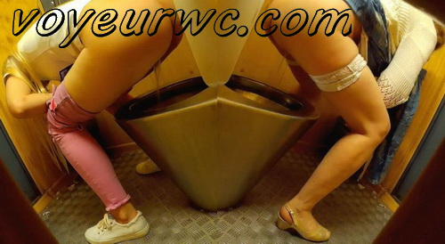 European ladies caught by hidden cam in the public toilet (Street Toilet 06)