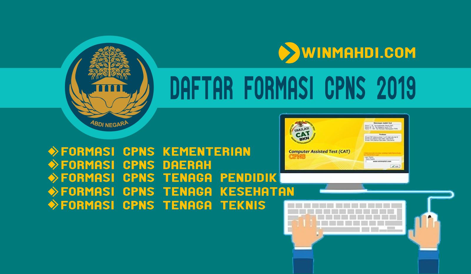 Daftar Formasi CPNS 2019