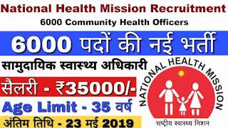 NHM Recruitment in UP 2019
